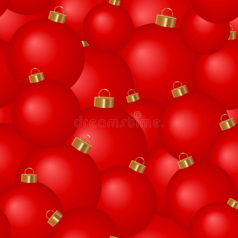 Άνευ ραφής υπόβαθρο των σφαιρών χριστουγεννιάτικων δέντρων ελεύθερη απεικόνιση δικαιώματος