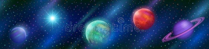 Άνευ ραφής φανταστικό διαστημικό υπόβαθρο ελεύθερη απεικόνιση δικαιώματος