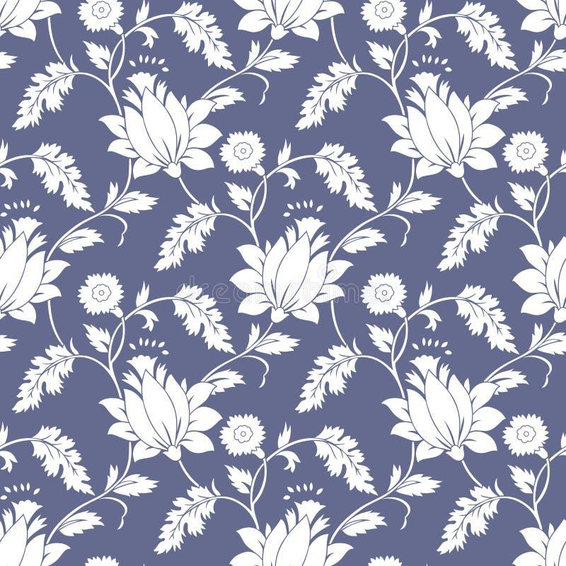 Άνευ ραφής φανταχτερή υπόβαθρο-ταπετσαρία λουλουδιών λωτού στοκ φωτογραφίες