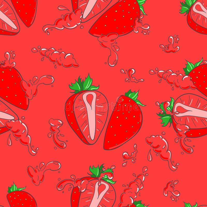 άνευ ραφής φράουλα προτύπ&omega ελεύθερη απεικόνιση δικαιώματος