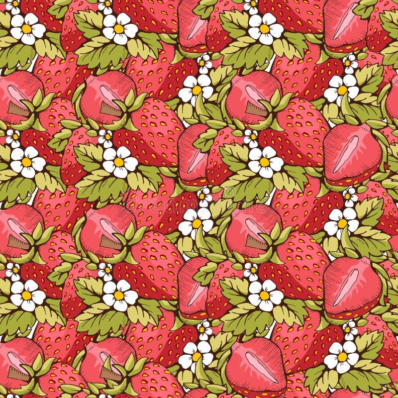 άνευ ραφής φράουλα απεικόνιση αποθεμάτων