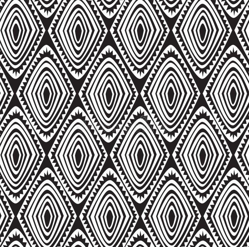 Άνευ ραφής φυλετικό σχέδιο με ένα μοτίβο διαμαντιών μιας αφρικανικής φυλής στοκ εικόνες με δικαίωμα ελεύθερης χρήσης