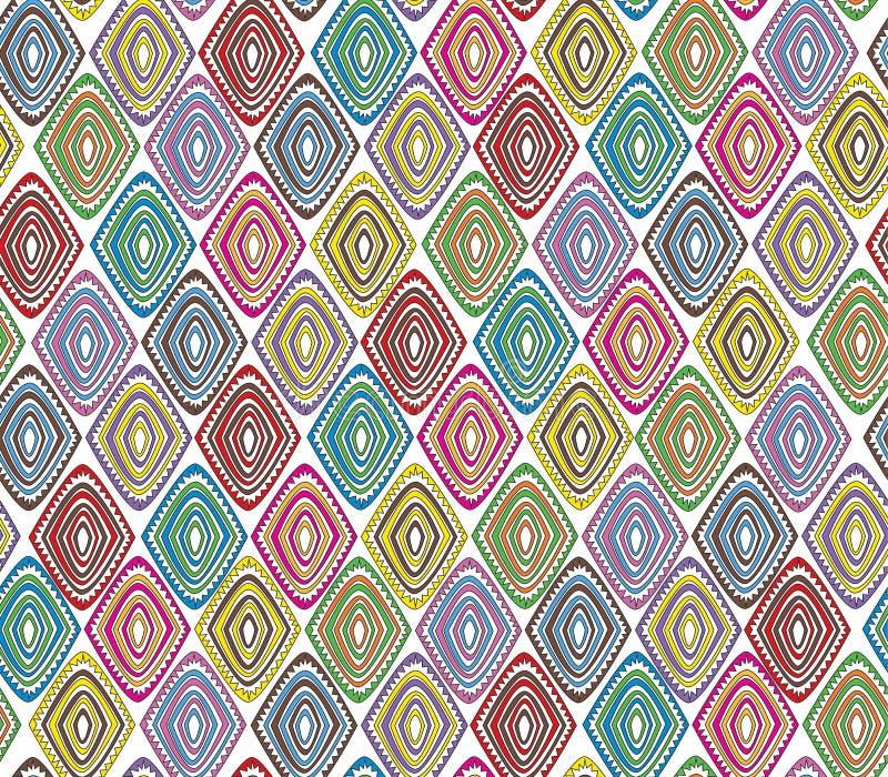 Άνευ ραφής φυλετικό σχέδιο με ένα μοτίβο διαμαντιών μιας αφρικανικής φυλής στοκ φωτογραφία με δικαίωμα ελεύθερης χρήσης