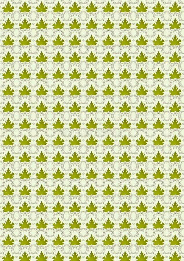 Άνευ ραφής φύλλα υποβάθρου των πράσινων σταφυλιών φύλλων. διανυσματική απεικόνιση