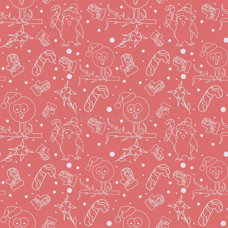 Άνευ ραφής χαριτωμένο υπόβαθρο με το santa στο διάνυσμα διανυσματική απεικόνιση