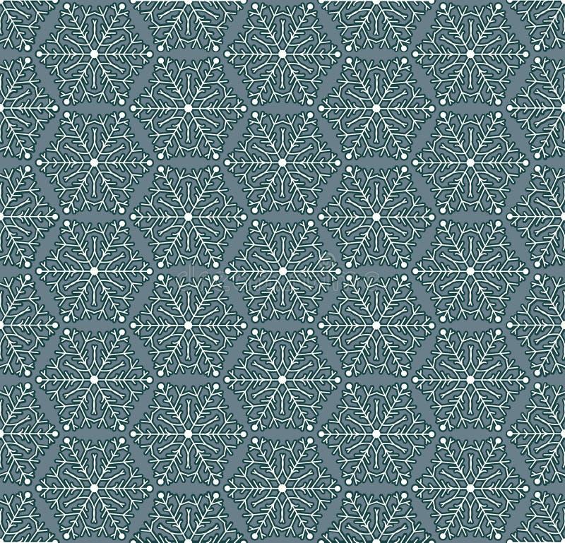 Άνευ ραφής χειμερινό πρότυπο με snowflakes Επίπεδη διακόσμηση στα εκλεκτής ποιότητας χρώματα απεικόνιση αποθεμάτων