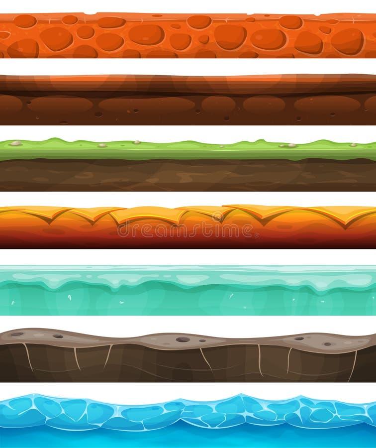Άνευ ραφής λόγοι, έδαφος και χώμα για το παιχνίδι Ui απεικόνιση αποθεμάτων