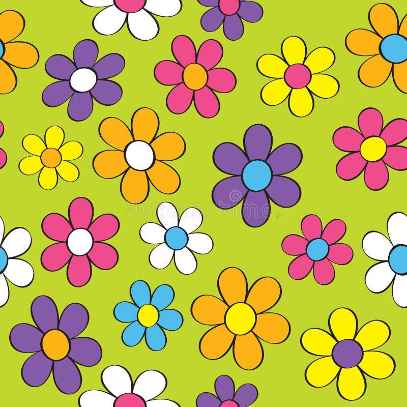 Άνευ ραφής δύναμη λουλουδιών ελεύθερη απεικόνιση δικαιώματος