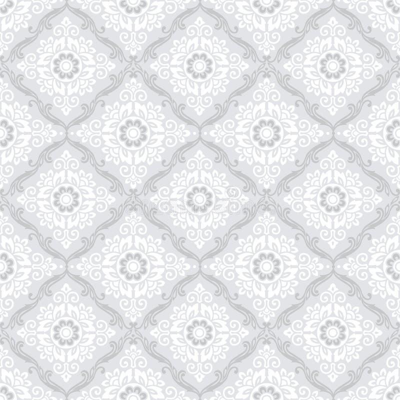 Άνευ ραφής damask ταπετσαρία διανυσματική απεικόνιση