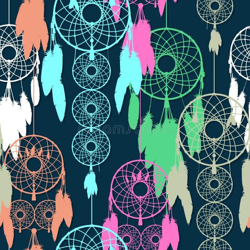 Άνευ ραφής dreamcatcher απεικόνιση αποθεμάτων