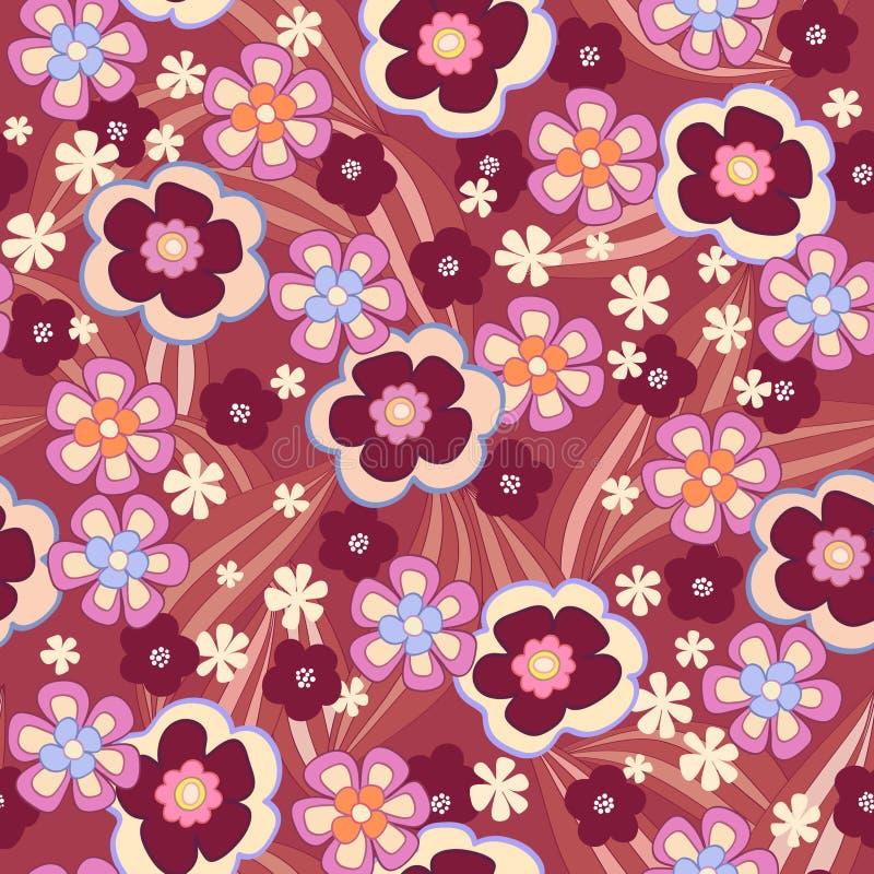 Άνευ ραφής floral ανασκόπηση απεικόνιση αποθεμάτων