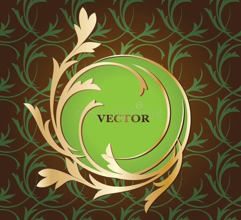 Άνευ ραφής floral διακόσμηση με το διακοσμητικό πλαίσιο για το κείμενό σας απεικόνιση αποθεμάτων