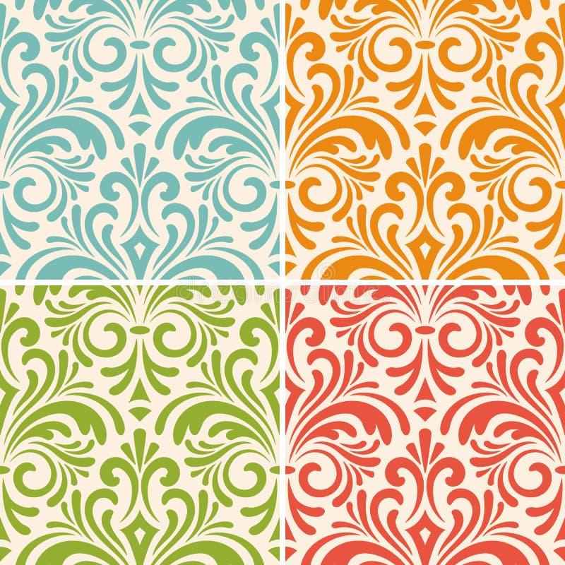 Άνευ ραφής floral εκλεκτής ποιότητας σχέδια ελεύθερη απεικόνιση δικαιώματος