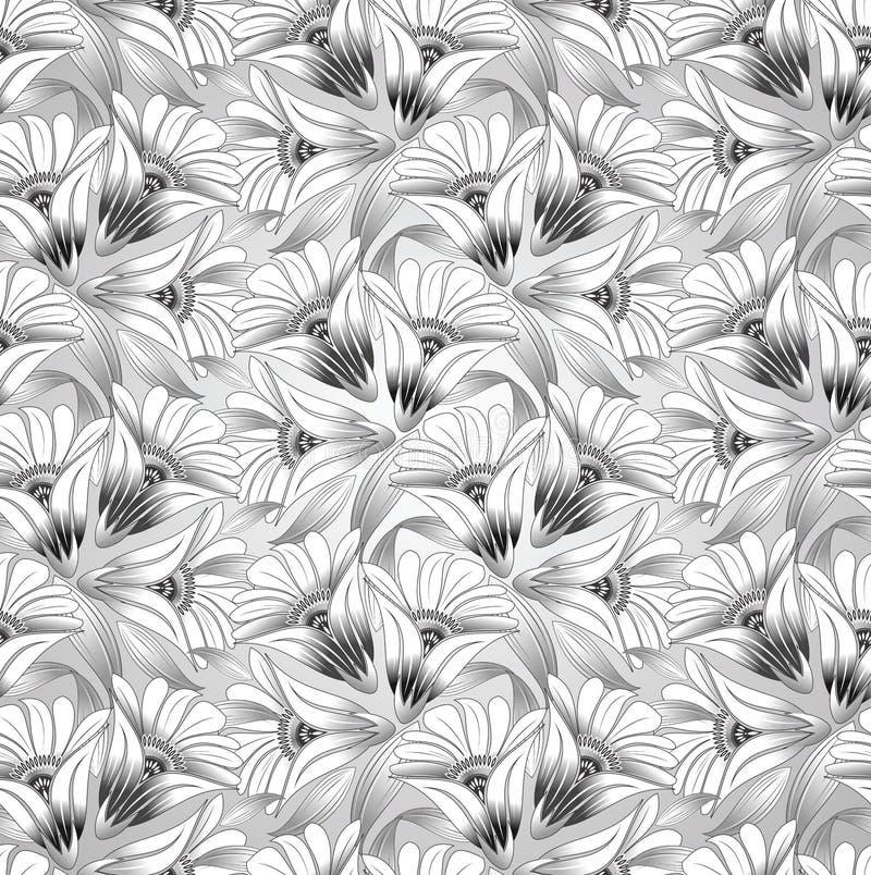 Άνευ ραφής floral διανυσματικό υπόβαθρο ελεύθερη απεικόνιση δικαιώματος