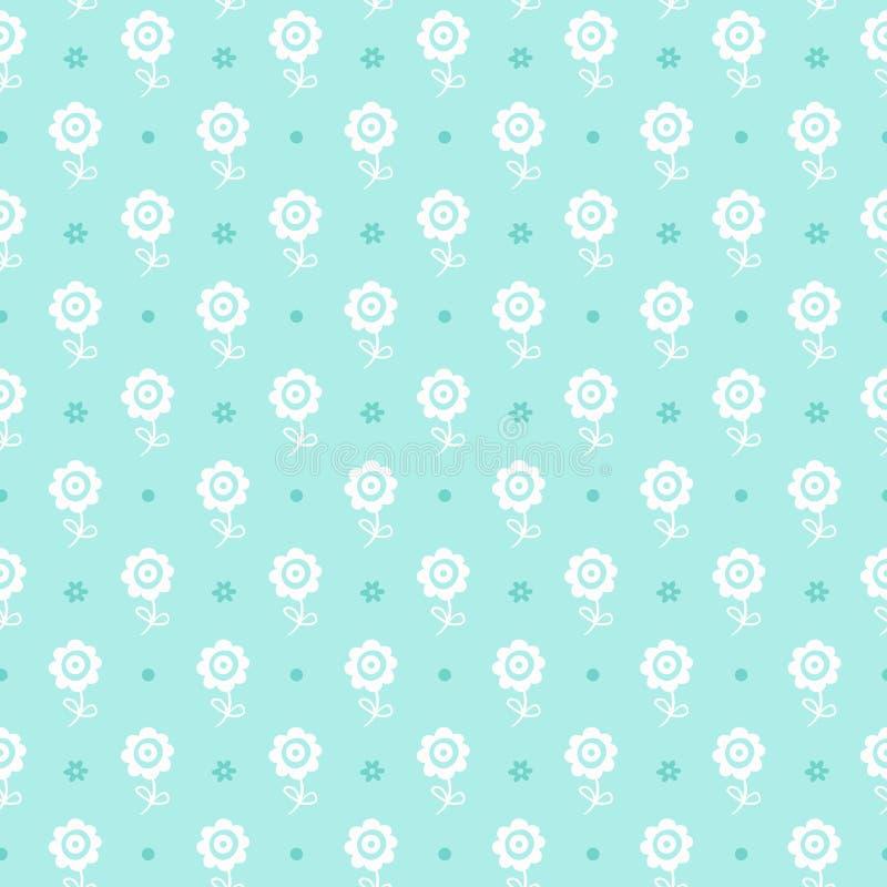 Άνευ ραφής floral πρότυπο. Σύσταση λουλουδιών για το αγόρι. διανυσματική απεικόνιση