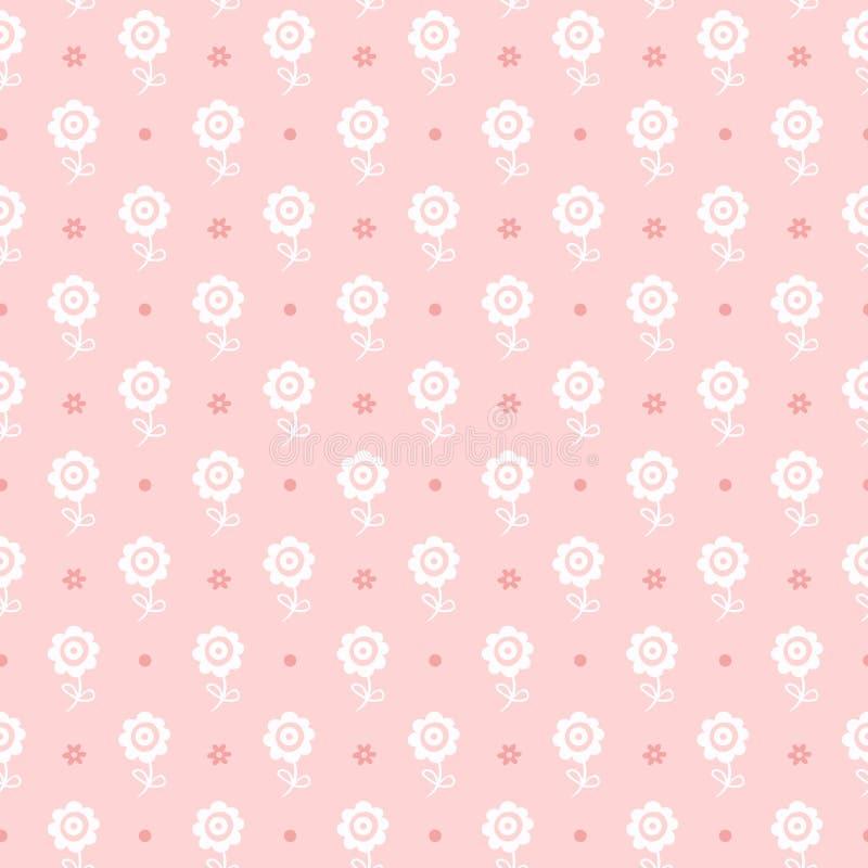 Άνευ ραφής floral πρότυπο. Σύσταση λουλουδιών για το κορίτσι. ελεύθερη απεικόνιση δικαιώματος