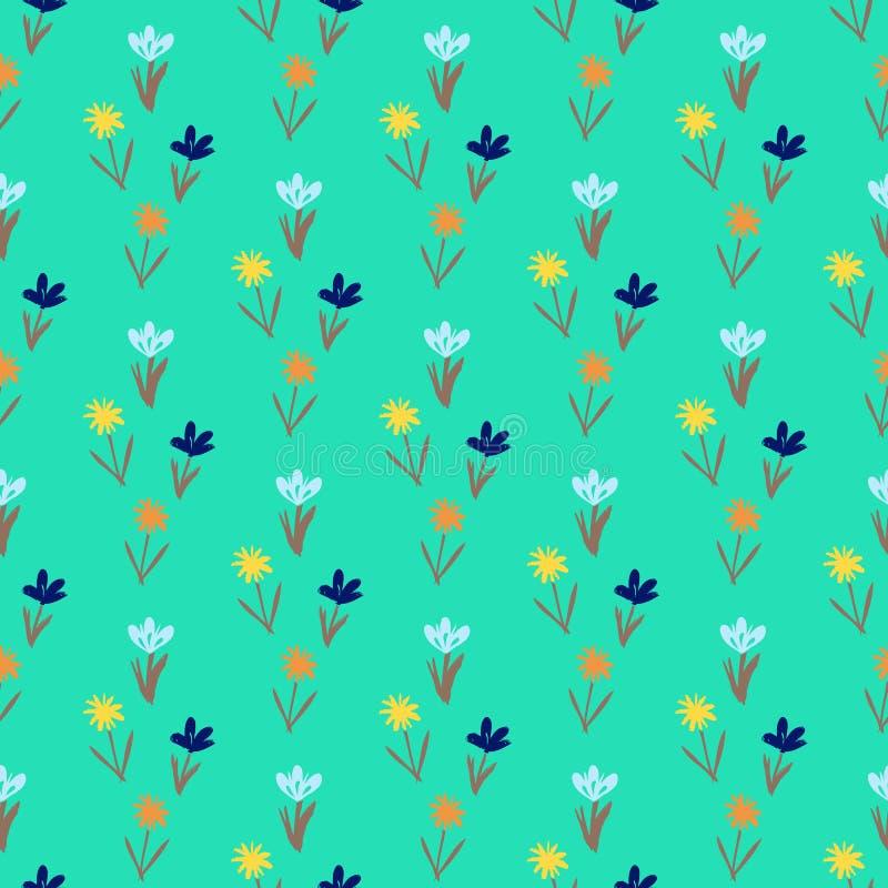 Άνευ ραφής floral σχέδιο με τα μικρά λουλούδια ελεύθερη απεικόνιση δικαιώματος