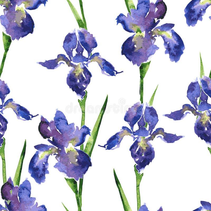 Άνευ ραφής floral σχέδιο Watercolor διανυσματική απεικόνιση
