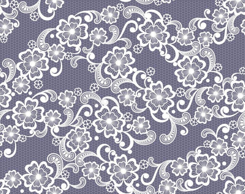 Άνευ ραφής floral υπόβαθρο δαντελλών απεικόνιση αποθεμάτων