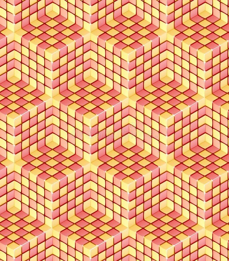 Άνευ ραφής hexagon σύσταση ανασκόπησης κύβων διανυσματική απεικόνιση