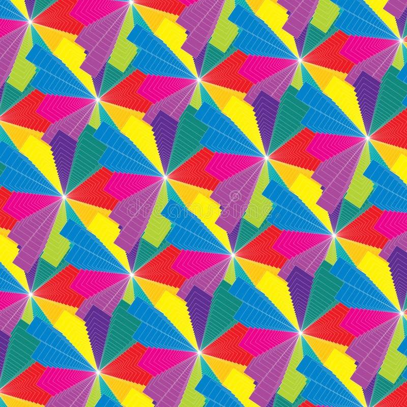 Άνευ ραφής psychedelic πολύχρωμο αφηρημένο σχέδιο ελεύθερη απεικόνιση δικαιώματος