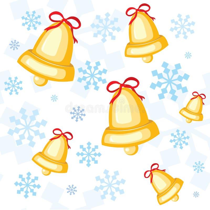 άνευ ραφής snowflakes προτύπων Χριστ ελεύθερη απεικόνιση δικαιώματος