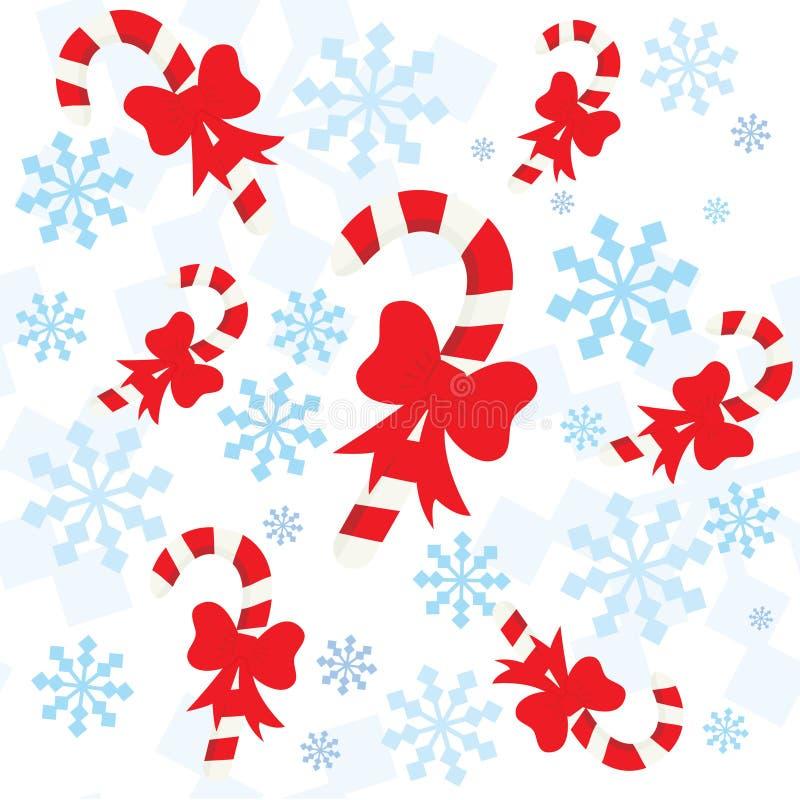 άνευ ραφής snowflakes προτύπων Χριστ διανυσματική απεικόνιση