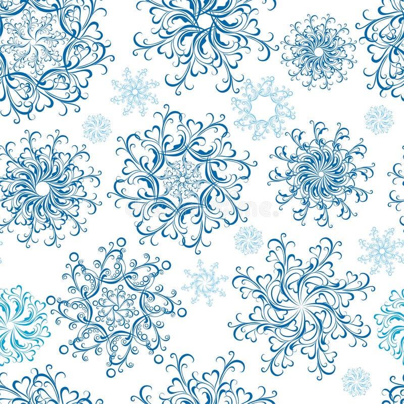 άνευ ραφής snowflakes Χριστουγένν&omega διανυσματική απεικόνιση