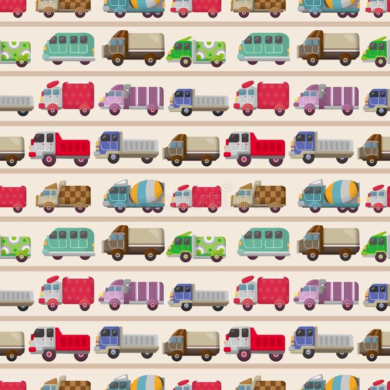 άνευ ραφής truck προτύπων διανυσματική απεικόνιση