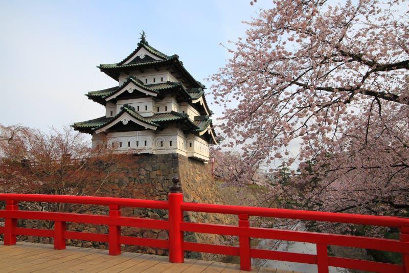 Άνθη κάστρων και κερασιών Hirosaki στοκ φωτογραφίες με δικαίωμα ελεύθερης χρήσης