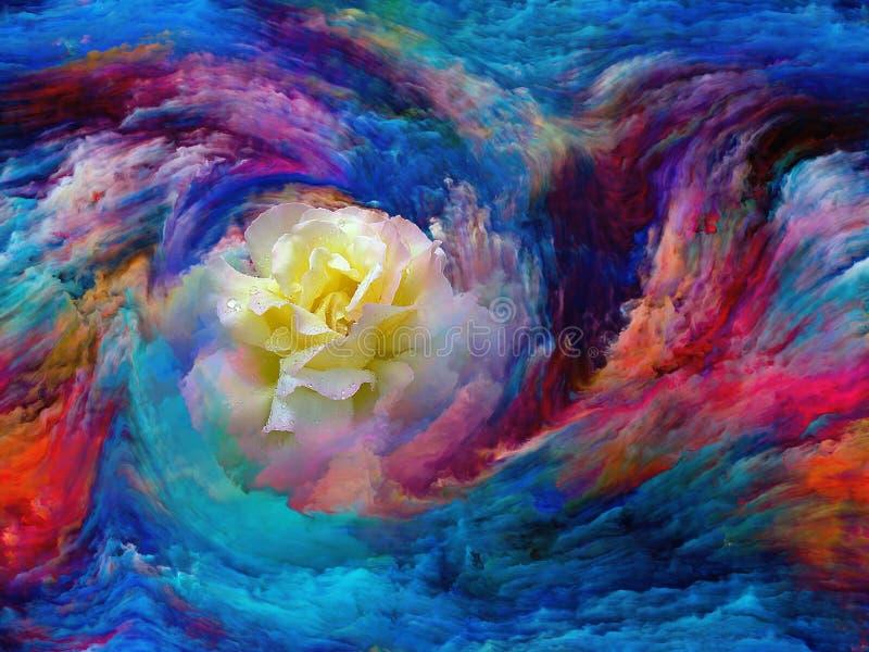Άνθιση χρώματος διανυσματική απεικόνιση