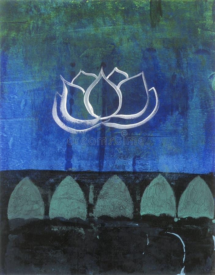 Άνθος Lotus ελεύθερη απεικόνιση δικαιώματος