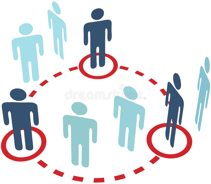 άνθρωποι δικτύων μελών σύνδ&e ελεύθερη απεικόνιση δικαιώματος