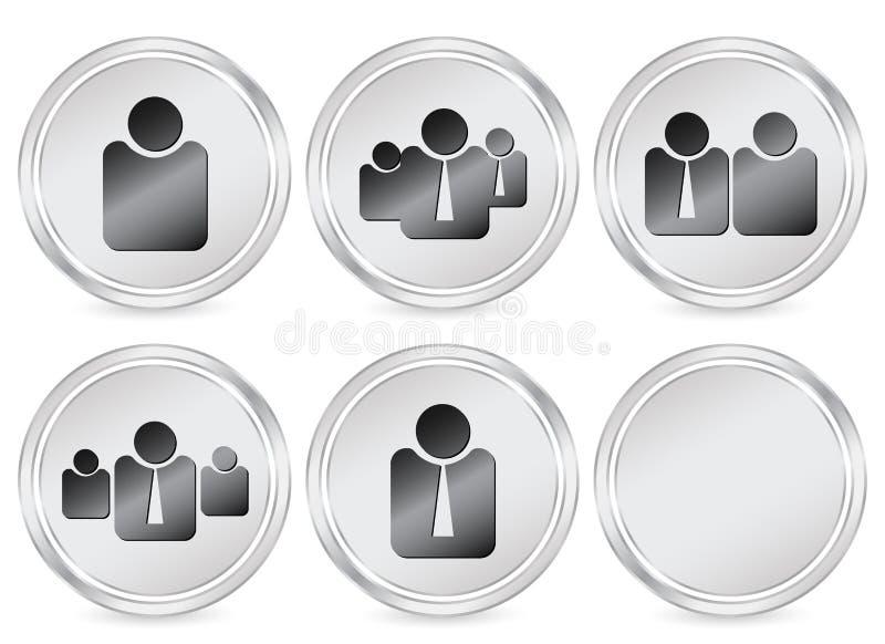 άνθρωποι εικονιδίων επιχειρησιακών κύκλων διανυσματική απεικόνιση