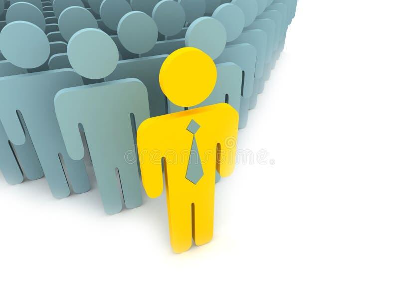 άνθρωποι ηγετών κίτρινοι απεικόνιση αποθεμάτων