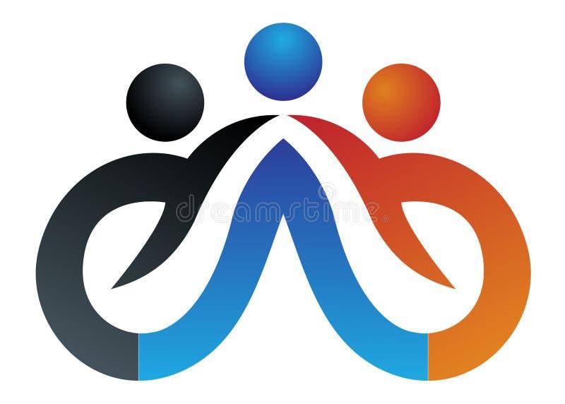άνθρωποι λογότυπων διανυσματική απεικόνιση