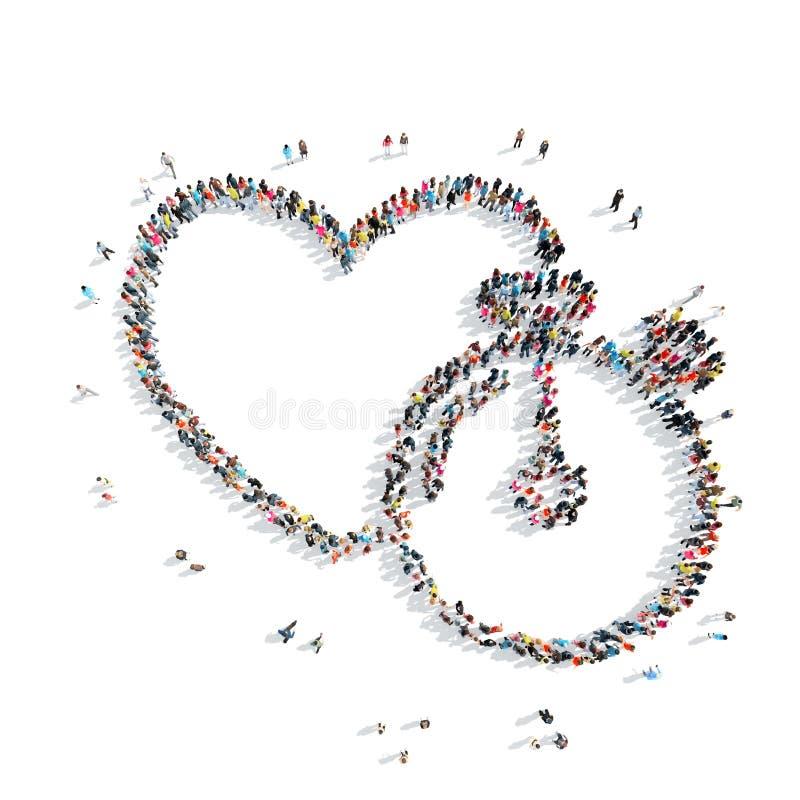 Άνθρωποι με μορφή της καρδιάς, καρδιο ελεύθερη απεικόνιση δικαιώματος