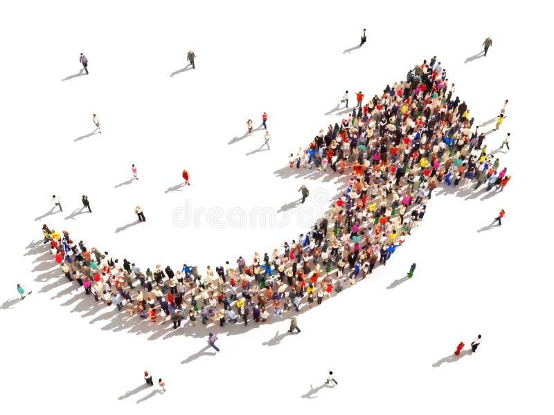 Άνθρωποι με την κατεύθυνση ελεύθερη απεικόνιση δικαιώματος