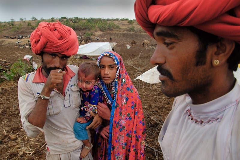 άνθρωποι νομάδων της Ινδία&sigm στοκ εικόνα με δικαίωμα ελεύθερης χρήσης