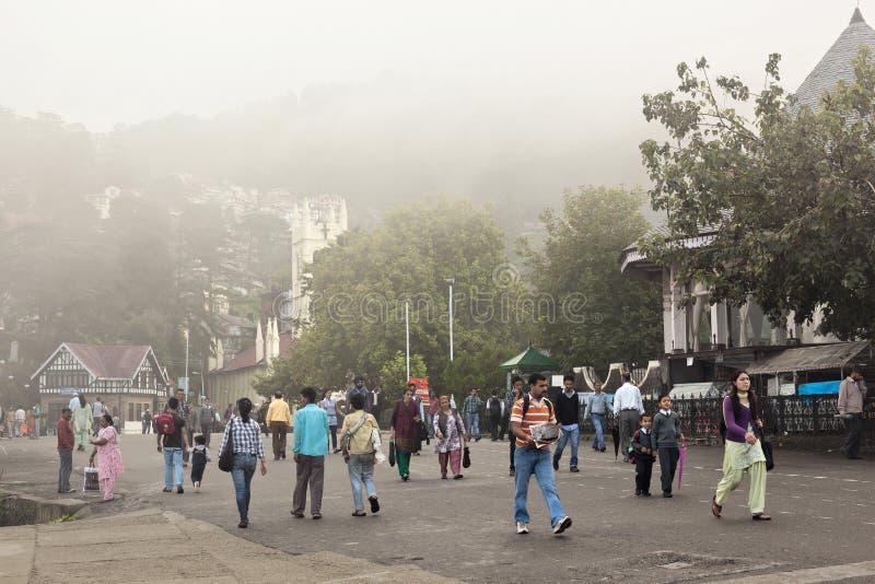 Shimla, η κορυφογραμμή στοκ φωτογραφία με δικαίωμα ελεύθερης χρήσης