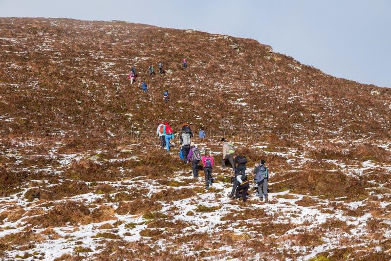Άνθρωποι που σκαρφαλώνουν στην Ιρλανδία στοκ εικόνα