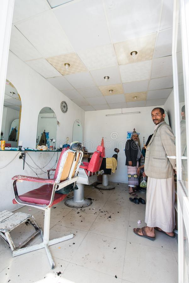 Άνθρωποι σε Sana'a, Υεμένη στοκ φωτογραφίες