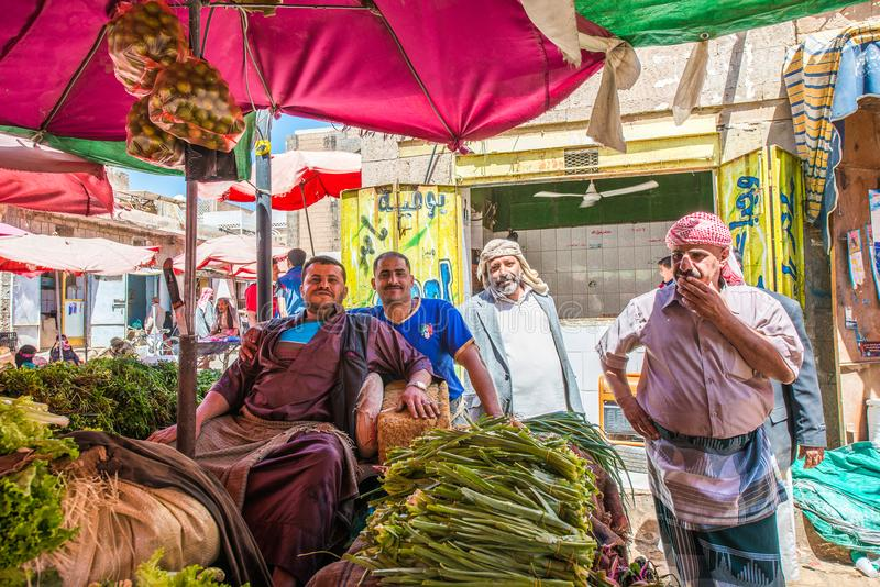 Άνθρωποι σε Sana'a, Υεμένη στοκ φωτογραφία