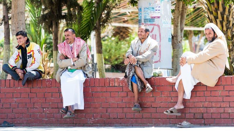 Άνθρωποι σε Sana'a, Υεμένη στοκ εικόνα με δικαίωμα ελεύθερης χρήσης