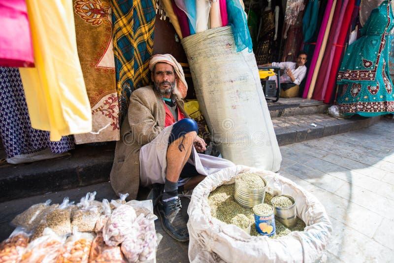 Άνθρωποι σε Sana'a, Υεμένη στοκ εικόνες