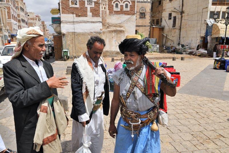 Άνθρωποι σε Sanaa, Υεμένη στοκ εικόνα με δικαίωμα ελεύθερης χρήσης