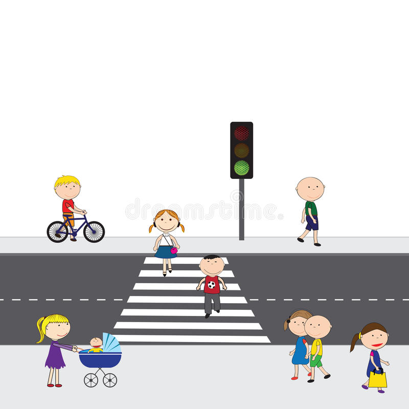 Άνθρωποι στην οδό διανυσματική απεικόνιση