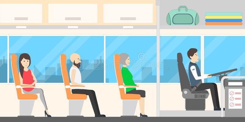 Άνθρωποι στο λεωφορείο ελεύθερη απεικόνιση δικαιώματος