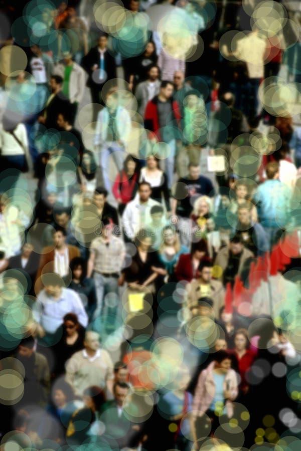 Άνθρωποι στο δρόμο με έντονη κίνηση στοκ φωτογραφίες