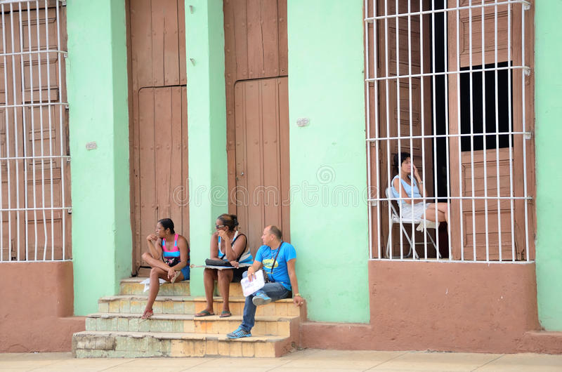 Άνθρωποι στο Τρινιδάδ, Κούβα στοκ εικόνες